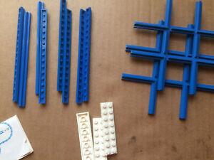 Lego Systems Set 155 Eisenbahn Kreuzungen Schienen OVP blau 70er Jahre 12 Volt