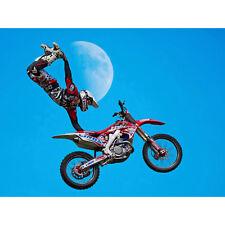 Motocross Bike Stunt Large Canvas Wall Art Print
