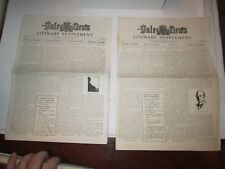(2) 1921 YALE DAILY NEWS LITERARY SUPPLEMENT NEWS PAPERS - VOLUME 1 - TUB QQ