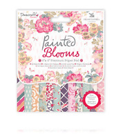 Dovecraft Painted Blooms - 6x6 Paper Pad - 48 Sheets - Stunning