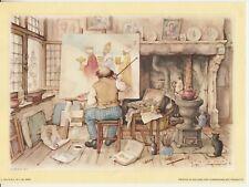 """Set of 3 Anton Pieck Lithograph Art Prints 1971 No Frame 7x10"""" B4690"""