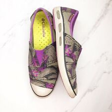 Columbia Womens Sz 7.5 Vent Slip On Canvas Mesh Flats Shoes Slip On Sneakers