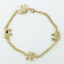 bracelet - Tobillera Elefante 14k Gold Plated Elephant ankle
