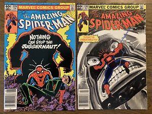 Amazing Spider-Man 229 230 Juggernaut 2 Book Lot Key Set