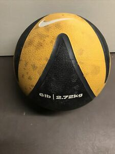 Nike 6lb Medicine Ball Yellow And Black Used Good Shape Ready To Workout