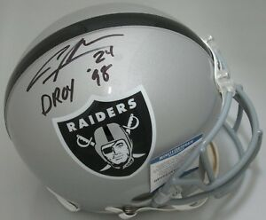 Raiders CHARLES WOODSON Signed Full Size Authentic Helmet AUTO w/ DROY '98 - BCA