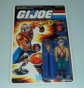*RECARDED 1987 GI Joe Cobra Big Boa Figure Complete Sealed CUSTOM File Card Back