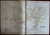 Norwood Washington St. Norfolk County Massachusetts 1888 large detailed map