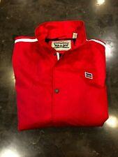 MENS LEVIS Red/White Water Resistant Nylon/Polyester Rain Jacket SZ L NWT $160
