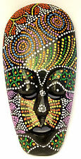Masque Bois Ethnique Décoration Statue Africain Tribal Totem Aborigène peint