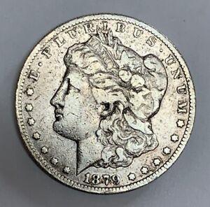 1879-CC Carson City Morgan Silver Dollar Fine Plus Detail Capped Die Better Date