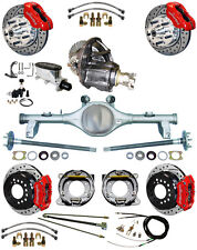 NEW SUSPENSION & WILWOOD BRAKE SET,CURRIE REAR END,POSI-TRAC GEAR,78-88 GM,RED,D