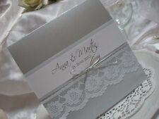 Einladungskarten Mit Spitze Inkl.druck! Beste Qualität! Kollektion Caroline!