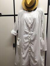Veritecoeur Japan Pale Gray Cotton Printed Smock Dress Free Size