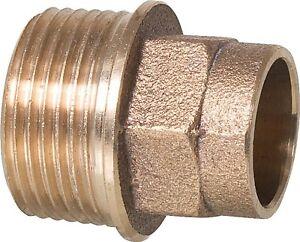 "Solder Fitting Gunmetal Transition Nipples 0 23/32in x 3/4 "" I / Ag"