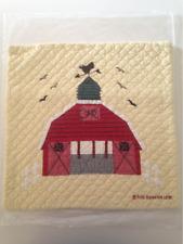 Judi Boisson American Country Barn Quilt Square Pillowcase Cotton Yellow White