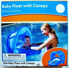 MIDWOOD BABY POOL FLOAT W/ CANOPY SUNSHADE & LEG HOLES,COLOR: BLUE,AGES 1-2 ,NEW
