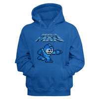 Mega Man Video Game Mega Gunner Royal Blue Adult Pullover Hoodie