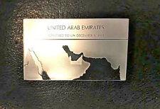 Franklin Mint Silver Ingot United Arab Emirates Flags of the U.N. 500 Grains
