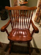 Vtg Sprague Carleton Fine Furniture Set/8 Rock Maple dining chairs not Tell City