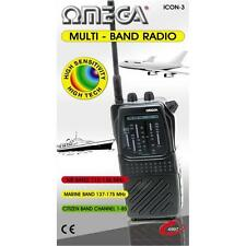 OMEGA icon-3 MULTI BAND RADIO RECEIVER AIR PB Marine WB cittadino CB TV-1 NERO