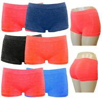 6 BOXER SHORTS SEAMLESS UNDERWEAR SOFT LYKRA SUPPORT PANTIES BOYSHORTS