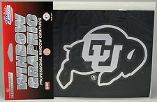 University of Colorado Buffaloes Window Graphic - Silver Chrome Vinyl Decal 4x5