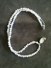 Tiny pink pearls necklace with pendant