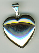 925 Sterling Silver Locket Heart Extra Large Plain Hallmarked Pendant  L 1.3/4""