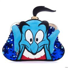 Irregular Choice Disney Aladdin Genie Blue Jasmine Heart Kiss Bag Coin Purse NEW