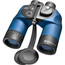 BARSKA 7x50 Deep Sea Waterproof Binocular w/ Internal Rangefinder Compas Blue