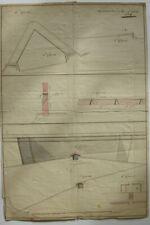 Luxemburg Fortifikation Manuskriptplan 3 aquarellierte Zeichnungen 1686 Festung