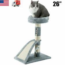 26� Cat Tree Tower Condo Furniture Sisal Scratch Pad Post Kitten Pet Play House