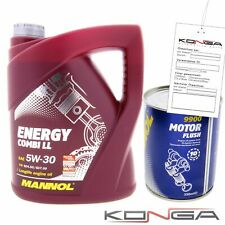 1x5 Liter MANNOL Energy Combi LL 5W-30 API SN CF Motoröl 5W30 1x Motor Flush