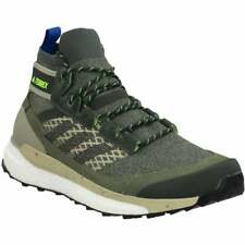adidas Terrex Free Hiker Blue Hiking Shoes  Casual Hiking  Athletic Green Mens -
