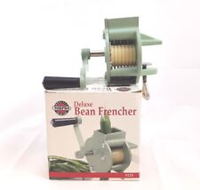 Vintage Norpro Deluxe Bean Frencher Slicer Cutter Heavy Duty 5125 Green Yellow