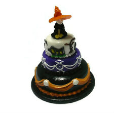Dolls House Miniatures 3 Tiers Halloween Cake  Food  Art  Decor  Holiday-8