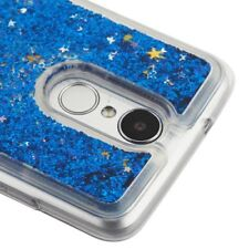 LG Aristo 2/tribute Dynasty Blue Quicksand Glitter Hybrid Protector Cover