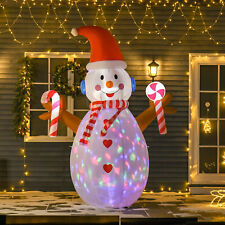 More details for christmas inflatable snowman, rotating lighted home yard novelty decoration