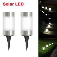 2pcs LED Solar Ultra Bright Lawn Light Outdoor Waterproof Courtyard Garden Lamp