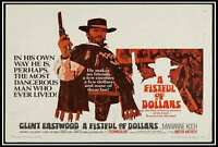 Fabric Poster 24x36 Canvas A Fistful of Dollars Movie  room decor print F-105