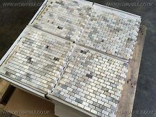 Skyfall Polished Marble Mosaic Tiles, 100X100X10MM SAMPLE, Marble Limestone