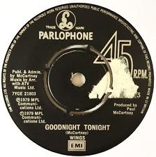 "WINGS - Goodnight Tonight (7"") (VG-/NM)"