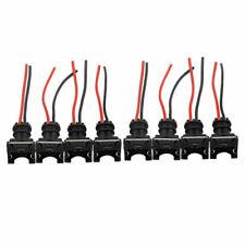8x EV1 Fuel Injector Connector Plug Clip Pigtail Quick Disconnect  Black OBD1 RC