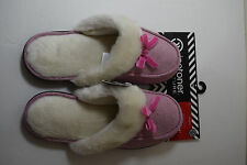 NEW ISOTONER Women's Slippers L 8.5 -9 Holiday Clog Micro suede Berry