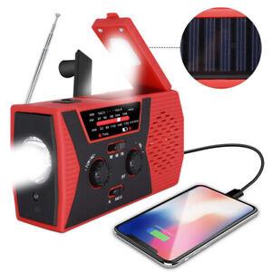 Notfall Solar Handkurbel Radio AM / FM SOS Alarm Taschenlampe Telefon Ladegerät