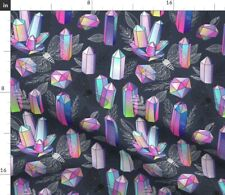 Moths Crystals Butterfly Rainbow Witchcraft Spoonflower Fabric by the Yard