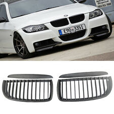 E90 E91 Black Front Kidney Grill Grilles for BMW Saloon 05-08 325i 328i 335i 4D