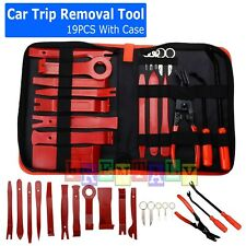 19Pc Car Trim Removal Tool Set Hand Tools Pry Bar Panel Door Interior Clip Kit