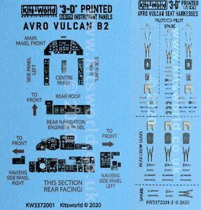 KW3D1721001 NEW 1:72 Kits World Decals Avro Vulcan B.2 3D Instruments & Harness
